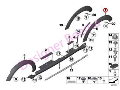 MINI Countryman R60 Rear Right Wheel Arch Moulding (JS)