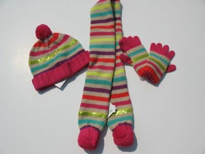 dh NWT GYMBOREE Color Happy Stripe Sweater Hat Scarf Gloves 5 7