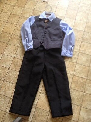 Jeffrey Banks Toddler 4-PC Suit Size 24 Months EUC Great For Easter, Wedding