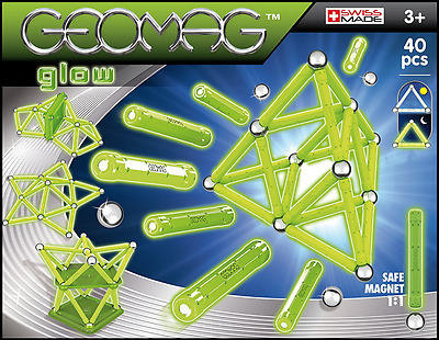 GEOMAG 330 Glow Magnetic Construction Set 40-Piece