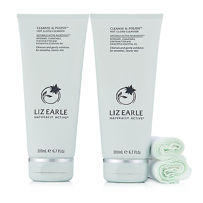 LIZ EARLE 200ml CLEANSE AND POLISH HOT CLOTH CLEANSER - DOUBLE DEAL (400ml)