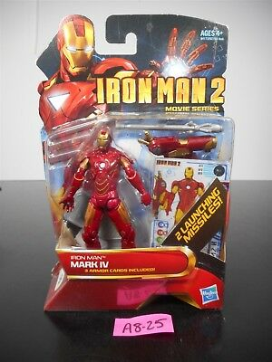 New! Iron Man 2 Movie Series Mark Iv 3 Armor Cards 2 Launching Missiles! #9 A825