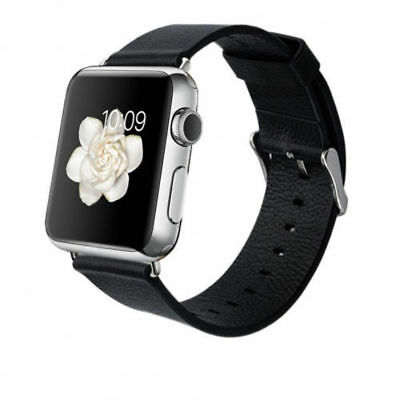 Baseus Simple Genuine Leather Watch Band For Apple Watch 42mm - Black