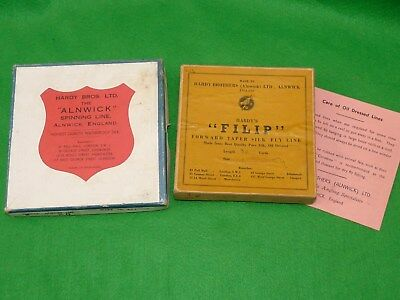 2 vintage Hardy fly line card boxes Alnwick &  rare FILIP for collectors