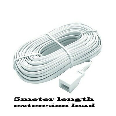 UK phone Extend lead (New 5 meter BT Fully wired Telephone Extension Cable )