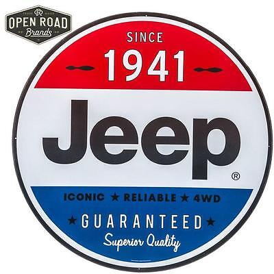 Jeep Since 1941 Embossed Metal Tin Sign