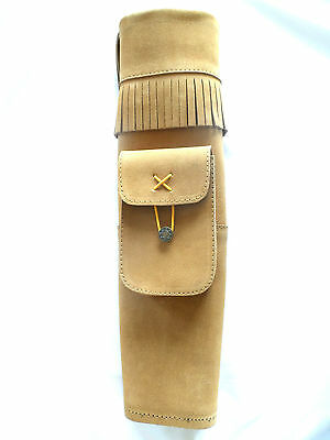 22inch/56cm Suede back quiver to suit recurve long bow for target or hunting