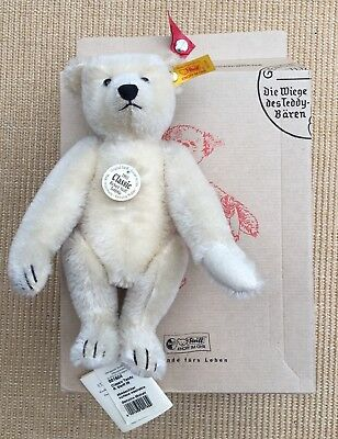 Steiff Classic 1905 White Mohair Jointed Bear With Hump - Mint And Boxed