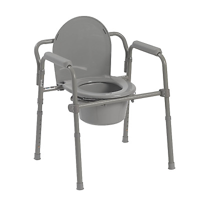 Commode Potty Bedside Raised Over Toilet Seat Chair Bucket Bathroom Travel Fold