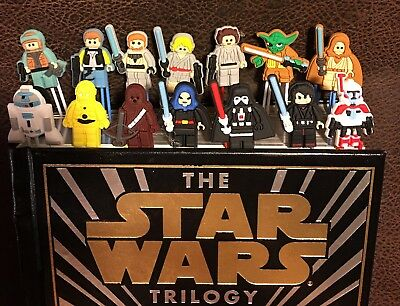 Lego Star Wars Trilogy Page Markers Textbook Study Aid Bookmarks 14 Pc Gift Idea