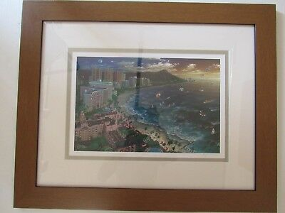 """FRAMED """"Hawaiian Sunset"""" Signed Numbered  Ltd Ed Litho by Alexander Chen"""
