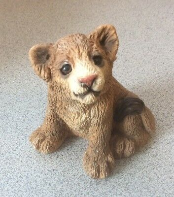 "Stone Critters Lion Cub, Sitting United Design Corp. 3"" H #SCB-012"