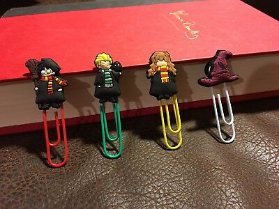 Harry Potter Page Markers Textbook Study Aid Bookmarks 4 Pc Gift Idea