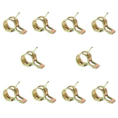 10Pcs 6mm Spring Clips Clamps Fuel Hose Line Water Pipe Air Tube Fasteners