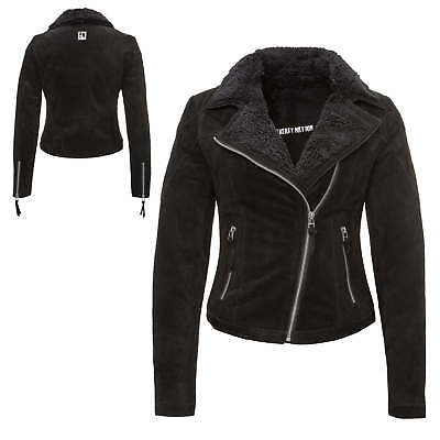 freaky nation damen biker lederjacke jacke gr m 100 leder. Black Bedroom Furniture Sets. Home Design Ideas