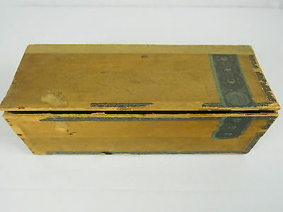 Antique Old Wood Cigar Box 1883 Henry Clay Tax Stamp A Sure Thing Label