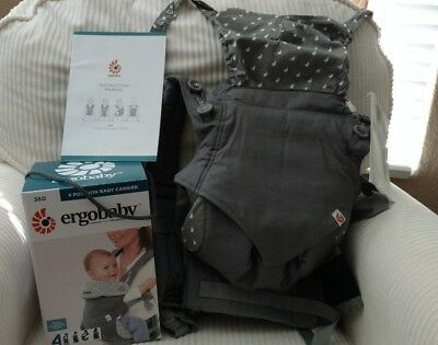 New with Box New Style Dewy Grey Ergo 360 4 Position Baby Carrier