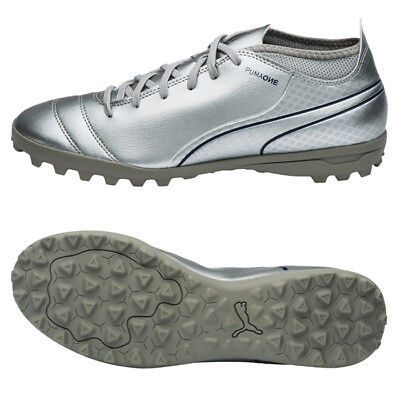 PUMA ONE 17.4 TT Turf Football Shoes Soccer Cleats Silver 10407805 ... 03bfee1fc