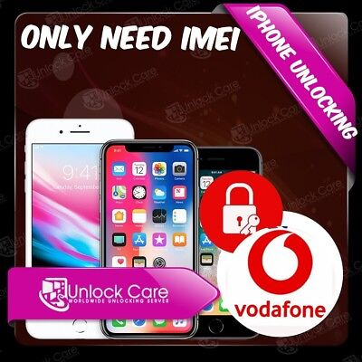 UK iPhone 6  6S+ 5S 5C 5 SE 7 7+ 8+ X Factory Unlock Service VODAFONE UK IMEI