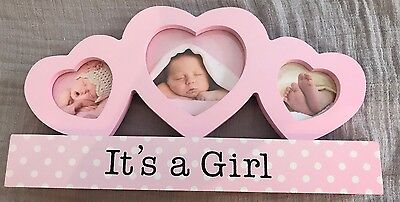 Pink It's a Girl Frame