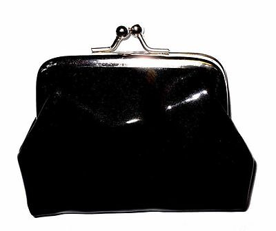 Girls Black Shiny Clasp Coin Purse Great For School Party Bag Stocking Fillers