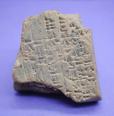 Stunning ancient clay tablet with early form of writing 2400-2000 BC