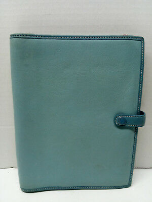 Coach Light Blue Leather Planner Organizer with Paper