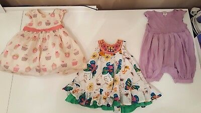 Girls clothes Baby clothes 3-6 months dress bundle Ted baker NEXT M&S