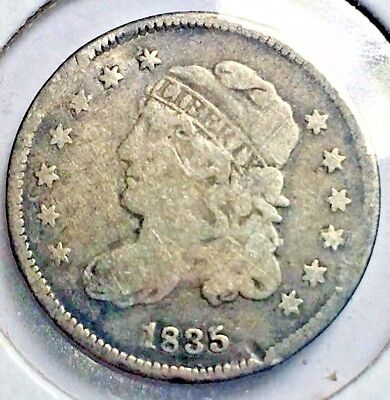 Beautiful 1835 H10C Small Date Small 5C Capped Bust Half Dime