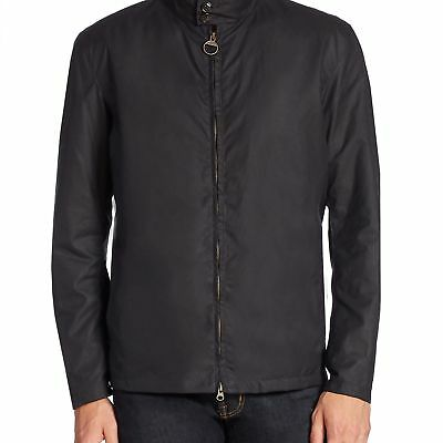 Barbour Mens Brompto Waxed Zip-Front Jacket