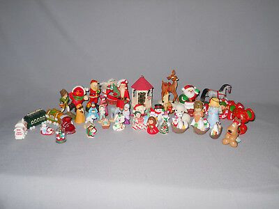 41 Hallmark Cards Merry Miniatures FIgurines - All Christmas - No Boxes