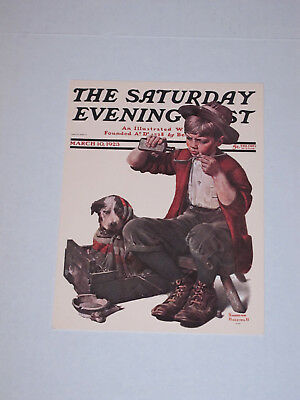 "Vintage Norman Rockwell Saturday Evening Post Greeting Card ""Puppy Love"""