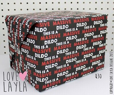 Wrapping Paper/funny wrapping paper/this is/massive di/gift wrap/Love Layla/ Q30