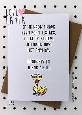 Greeting Card Birthday Card/Comedy/Novelty/Funny/Humour/Love Layla/SIS