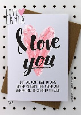 Greeting Card Birthday Card/Comedy/Novelty/Funny/Humour/Love Layla/PSH