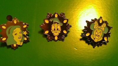 Disney Pins - Set of 3 Snowflake pins