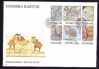 Sweden 1991 - Maps First Day Cover - Unaddressed