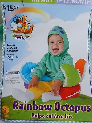 Baby Halloween NEW 2-piece Costume RAINBOW OCTOPUS Noah's Ark infant 6-12 months