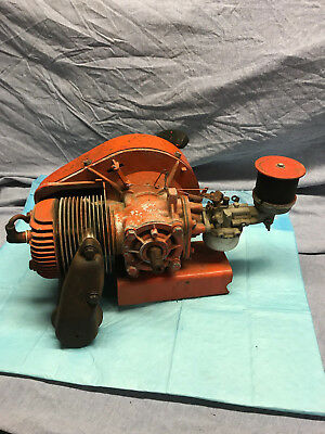 Vintage Jacobsen 2 Stroke Engine with stand and Nelson muffler parts/rebuild
