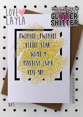 Greeting Card/Birthday Card/Massive Cunt/Cunt/Funny/Humour/Love Layla Aust/ K85
