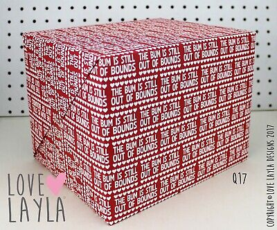 Wrapping Paper/Bum out of Bounds/Gift Wrap/funny wrap/Love Layla Australia/ Q17