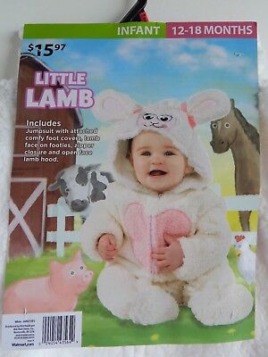 Baby Halloween NEW 1-piece Costume LITTLE LAMB farm animal, infant 12-18 months