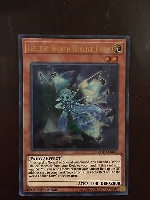 LEE THE WORLD Chalice Fairy NM 1st Ed YuGiOh COTD 022 Yu-Gi-Oh Card Ultra  Rare