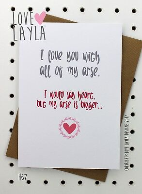 Greeting Card Birthday Card/Comedy/Novelty/Funny/Humour/Love Layla/AB