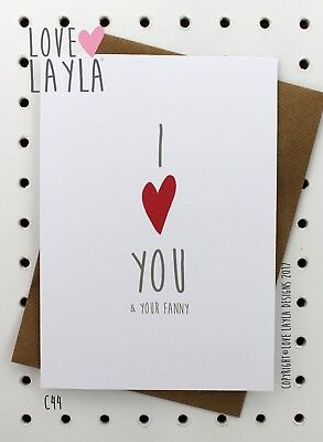 Greeting Card / LGBT / Birthday Card /Comedy/Novelty/Funny/Humour/Love Layla/C44