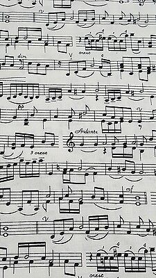 Quilting fabric -  Music Notes FQ