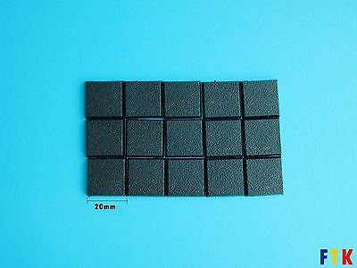 15 pcs x 20mm Warhammer Square Plastic Base