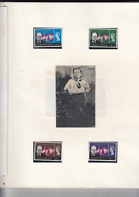 1966 CHURCHILL COMPLETE CROWN AGENTS OMNIBUS SET MNH + Extras and clippings