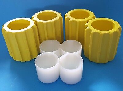 Beckman Centrifuge Rotor Bucket Bottle Sleeve Adapters with Conical Tube Inserts