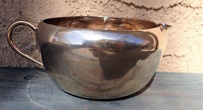 Nice Chubby Vintage Silver Plated Creamer